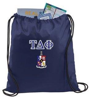 Tau Delta Phi Crest - Shield Cinch Sack