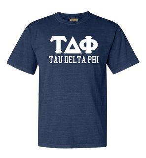 Tau Delta Phi Greek Custom Comfort Colors Heavyweight T-Shirt