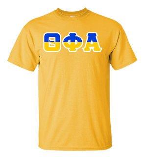 Theta Phi Alpha Two Tone Greek Lettered T-Shirt
