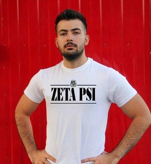 Zeta Psi Line Crest Tee