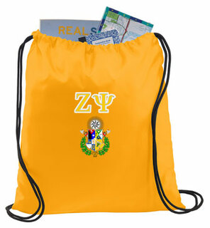 Zeta Psi Crest - Shield Cinch Sack