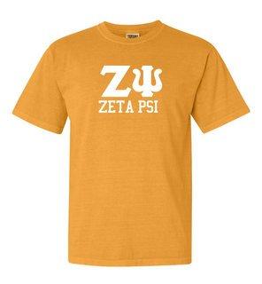 Zeta Psi Greek Custom Comfort Colors Heavyweight T-Shirt