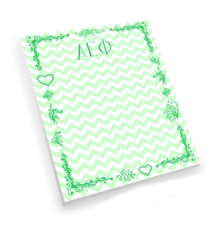 Alpha Epsilon Phi Chevron Notepad