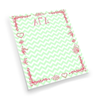 Alpha Gamma Delta Chevron Notepad