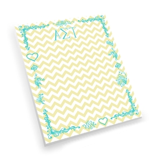 Alpha Sigma Tau Chevron Notepad