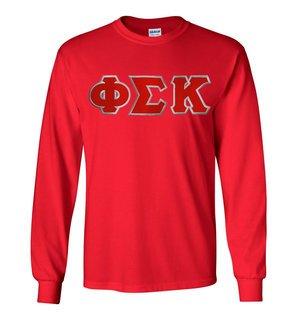 Phi Sigma Kappa Lettered Long Sleeve Shirt
