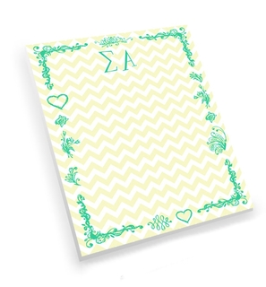 Sigma Alpha Chevron Notepad