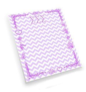 Sigma Sigma Sigma Chevron Notepad
