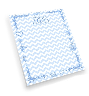 Zeta Phi Beta Chevron Notepad