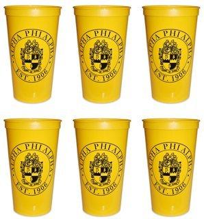 Alpha Phi Alpha Set of 6 Big Plastic Stadium Cups