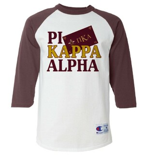 Pi Kappa Alpha Flag Champion Raglan T-Shirt