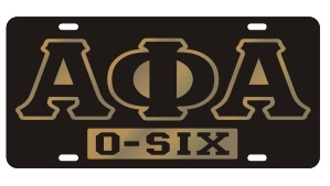 Alpha Phi Alpha License Plate - Black, Call
