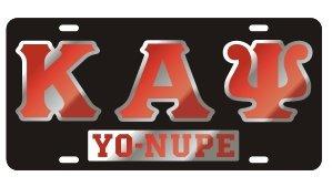 Kappa Alpha Psi License Plate - Black, Call