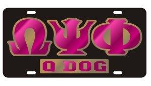 Omega Psi Phi License Plate  Q-Dog