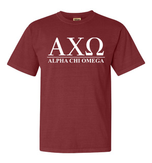 Alpha Chi Omega Comfort Colors Heavyweight T-Shirt