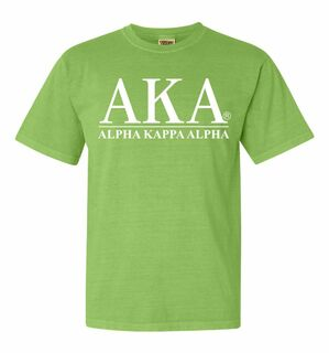 Alpha Kappa Alpha Comfort Colors Heavyweight T-Shirt