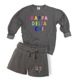 Kappa Delta Chi Comfort Colors Crew and Short Set