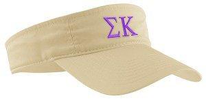 Sigma Kappa Greek Letter Visor