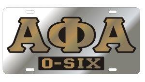 Alpha Phi Alpha License Plate - Silver, Call