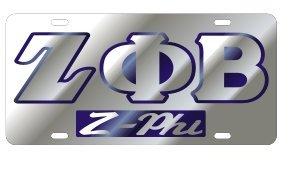 Zeta Phi Beta License Plate - Silver, Call