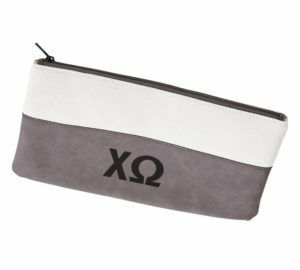 Chi Omega Letters Cosmetic Bag
