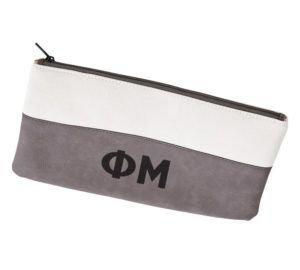Phi Mu Letters Cosmetic Bag
