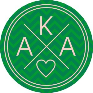 Alpha Kappa Alpha Well Balanced Round Decals