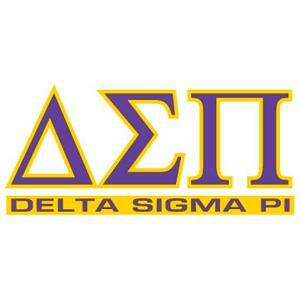 Delta Sigma Pi Letters Over Name Sticker