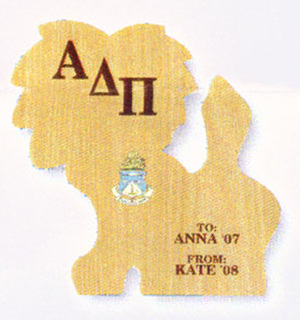 Alpha Delta Pi Lion Paddle - Plaque