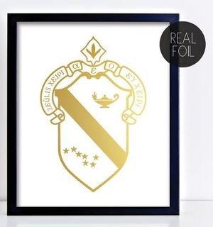 Alpha Phi Crest - Shield Foil Print