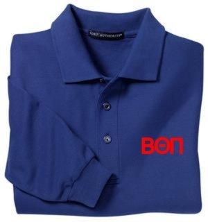 Beta Theta Pi Silk Touch Long Sleeve Sport Shirt