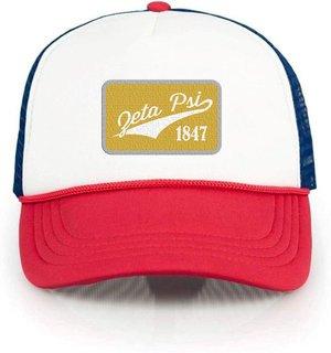 Zeta Psi Red, White & Blue Trucker Hat