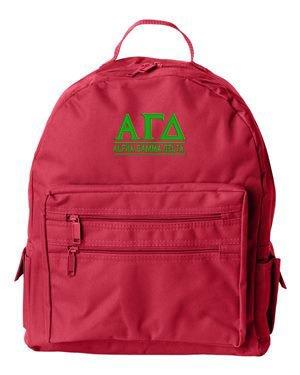Alpha Gamma Delta Custom Text Backpack