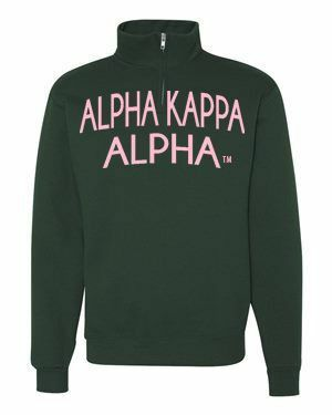 Alpha Kappa Alpha Over Zipper Quarter Zipper Sweatshirt