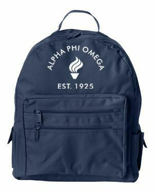 DISCOUNT-Alpha Phi Omega Crest - Shield Mascot Backpack