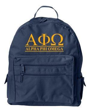 Alpha Phi Omega Custom Text Backpack