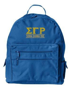 Sigma Gamma Rho Custom Text Backpack