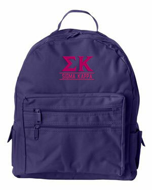 Sigma Kappa Custom Text Backpack