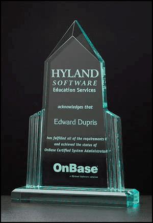 Acrylic Pyramid Award