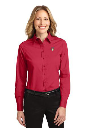 DISCOUNT-Order-of-Eastern-Star Long Sleeve Oxford