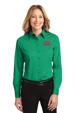 Sorority Long Sleeve Easy Care Shirt.