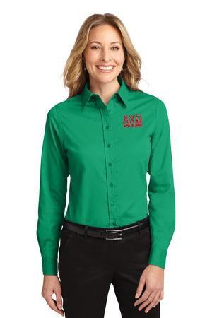 Sorority Long Sleeve Easy Care Shirt