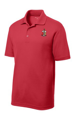DISCOUNT-World Famous Discount Greek Crest - Shield Polo