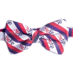 SigEp Striped Logo Bow Tie