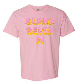 Alpha Delta Pi 3Delightful Tee - Comfort Colors