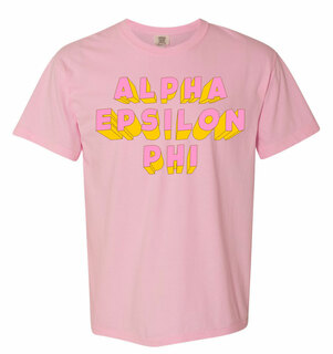Alpha Epsilon Phi 3Delightful Tee - Comfort Colors