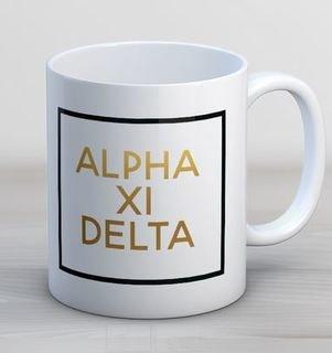 Alpha Xi Delta Faux Foil Coffee Mug
