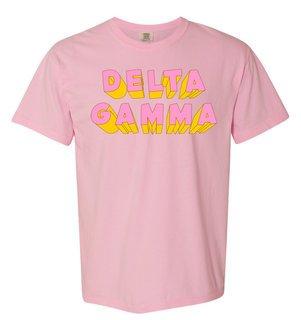 Delta Gamma 3Delightful Tee - Comfort Colors