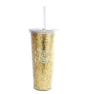 Sigma Kappa Glitter Tumblers