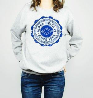 Alpha Delta Pi Seal Crewneck Sweatshirt